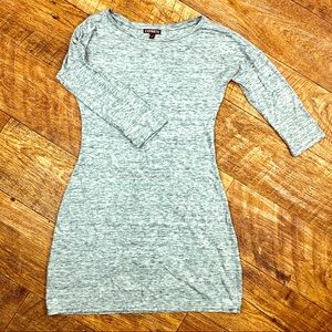 Express T-Shirt Mini Dress Light Grey XS Women's